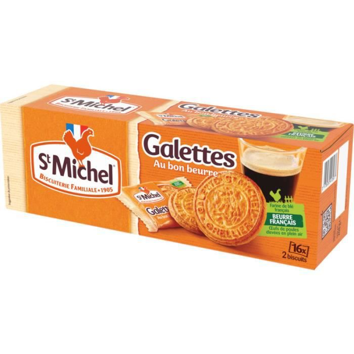 ST MICHEL Biscuits galette pur beurre - 208G