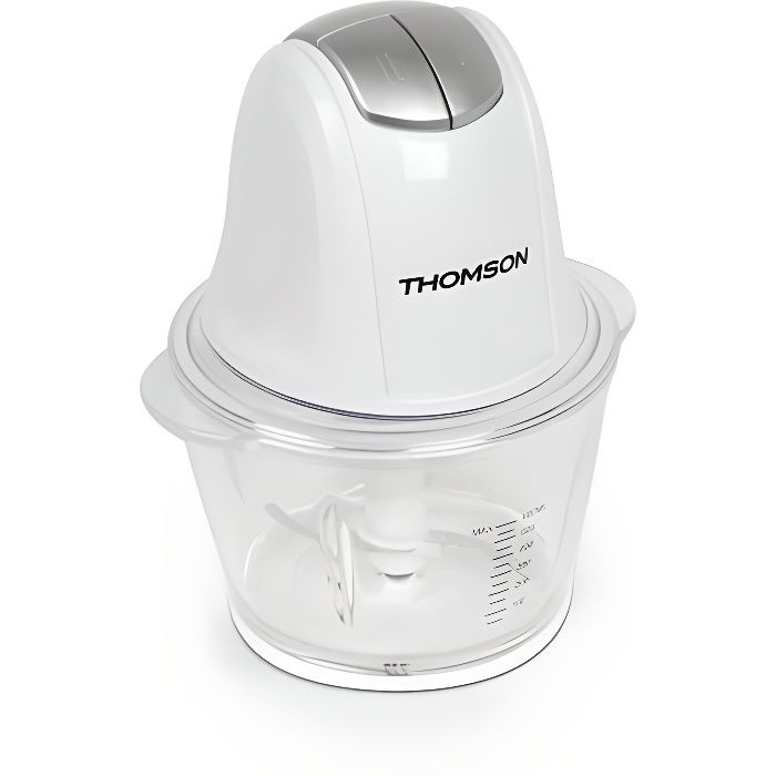 THOMSON - THMG936 - Hachoir électrique - Bol en verre gradué de 600mL - Lame en acier inoxydable - Puissance : 300W