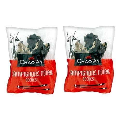 Lot 2X Champignons noirs séchés entiers - Chao'an - paquet 80g