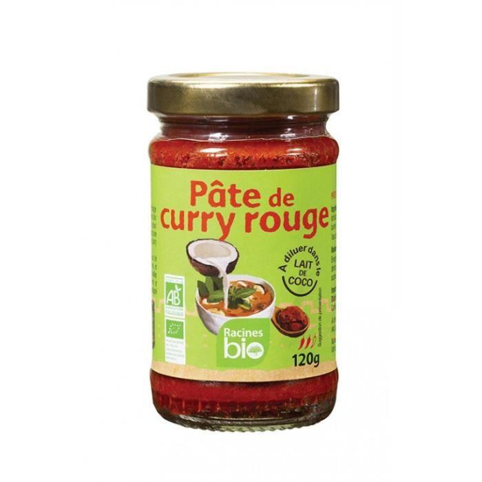 Pâte de curry rouge 120gr - Racines Bio