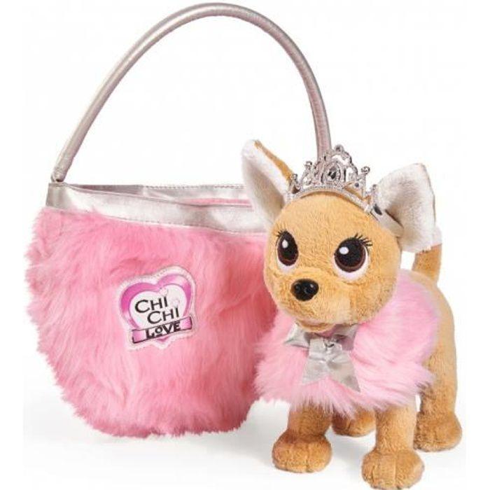 SMOBY Chichi Love Beauty Princesse Peluche 20 CM + Sac à Main en Fourrure - Simba - 105893126