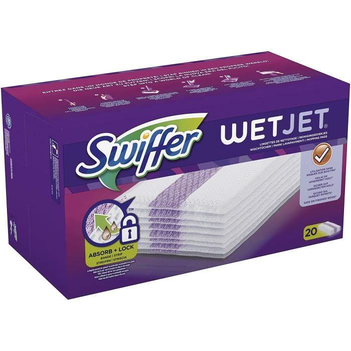 Swiffer WetJet Balai Spray Recharges Lingettes, 20 Lingettes