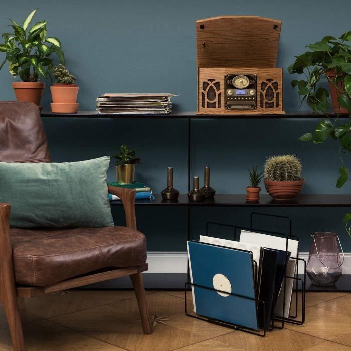 AUNA NR-620 Dab Chaîne stéréo - Compacte, Platine Vinyle 33 et 45 TR/Min, Lecteur CD,CD-R/RW & MP3CD, Platine Cassette, Radio Dab+/F