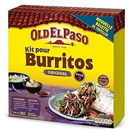 OLD EL PASO Kit Burrito Original - 510 g