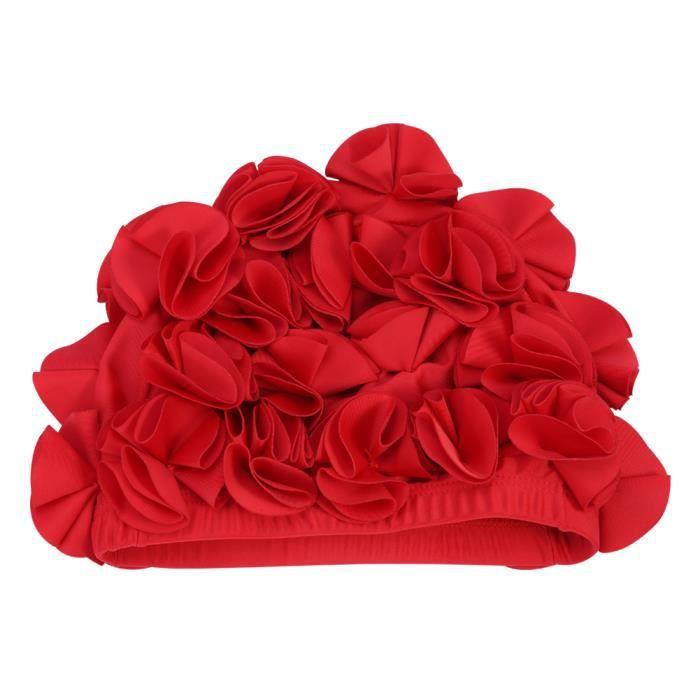 Sonew bonnet de bain fleur Femmes Enfants Fleur Forme Mode Bonnet De Bain Élastique Bonnet De Bain Cheveux Longs