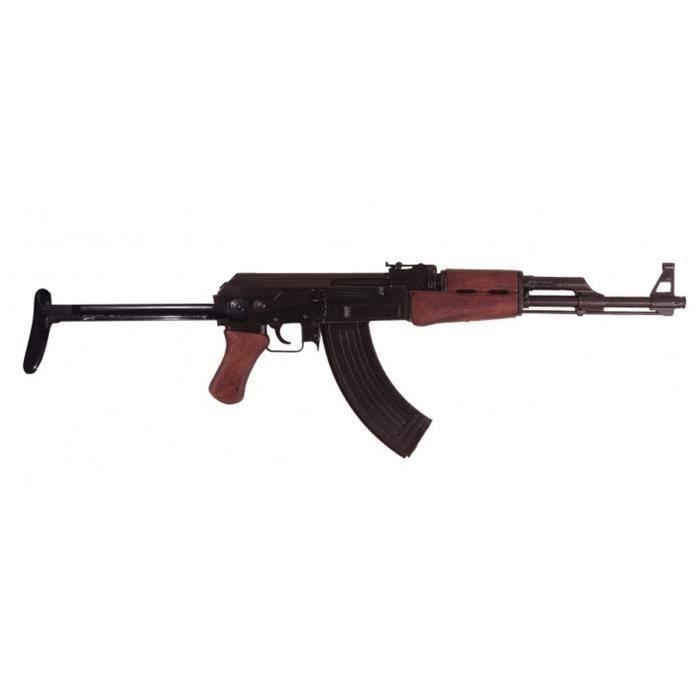 Réplique AK47 fusil d'assaut conçu en 1947 par Mikhaïl Kalachnikov pendant la Seconde Guerre mondiale, en métal et en bois, avec