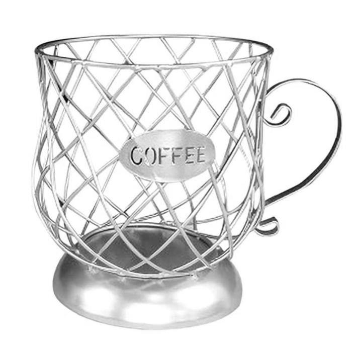 Porte-gousse de café K Tasse de rangement K Coupe Capsule de café Capsule Capsule Container Organisateur pour Compteur Barre Argent
