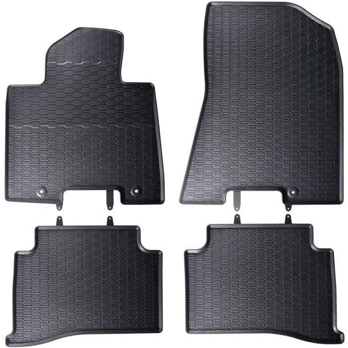 Tapis de sol caoutchouc pour Hyundai Tucson 3 III TLE 2015-2016 Noir 4 pcs