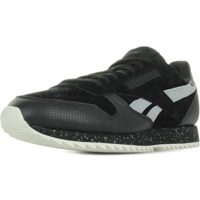 REEBOK Baskets Classic Leather Ripple Sm - Homme - Noir