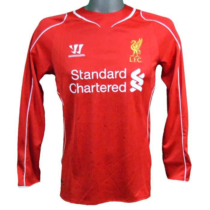 Maillot domicile manches longues Liverpool 2014/2015 Gerrard