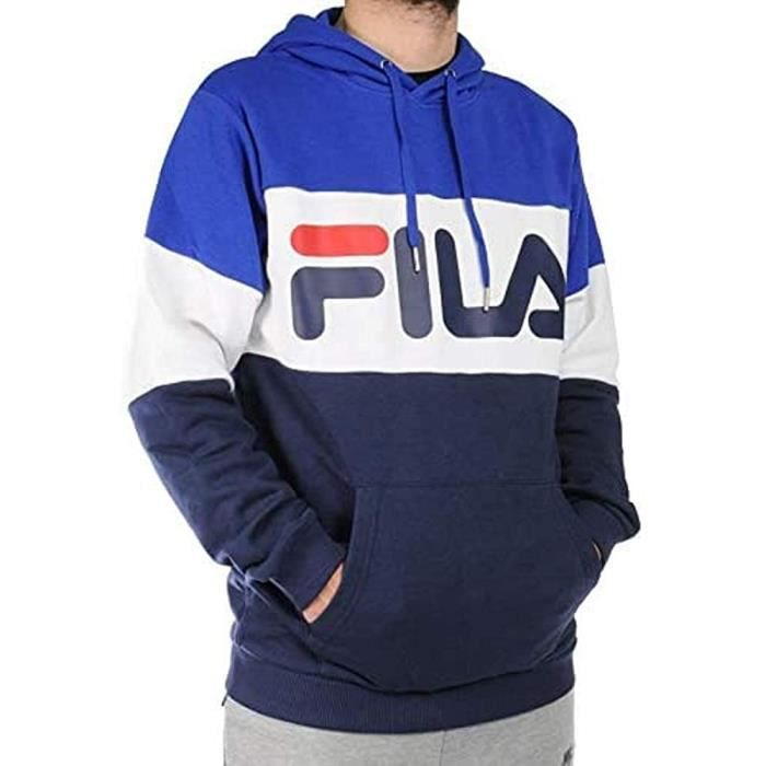 Fila Vêtements Sweat-Shirt Hommes Nuit Blocked Hoody Sweat-Shirt Cappucc. Homme Bleu 688051 S