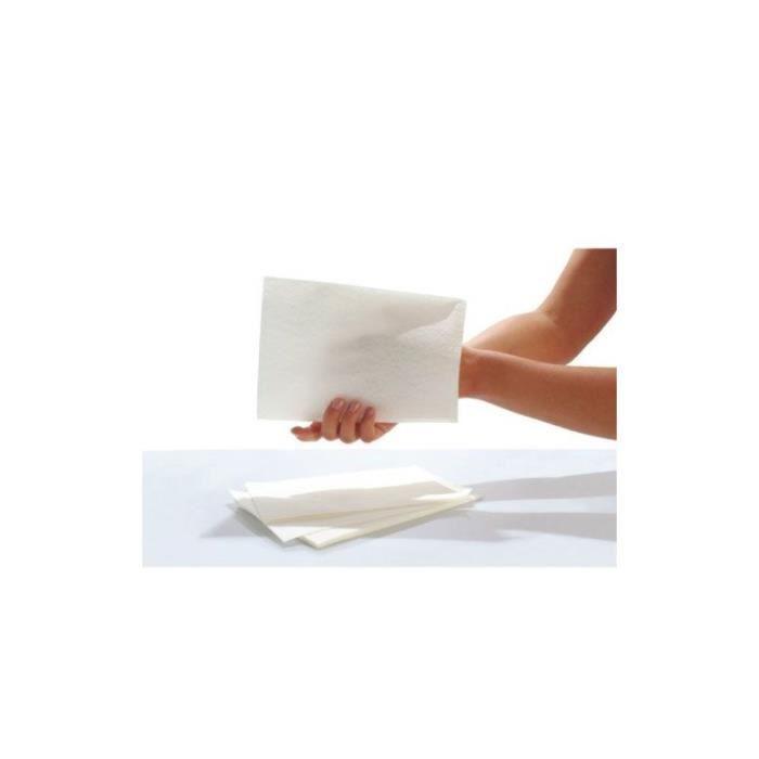 Gants de toilette jetables SENI Care - Avec film pour le nettoyage et les soins - Lot de 50