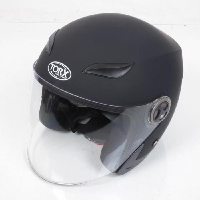 Casque bol Jet Torx Jack 3 taille L coloris Noir Mat pour moto scooter quad Neuf