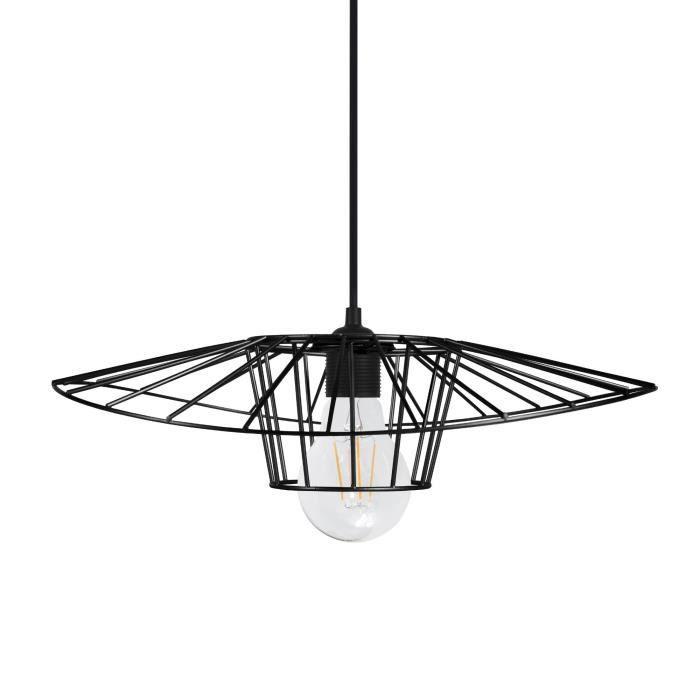LADY BIRD Suspension filaire - Ø40 x H70 cm - Noir