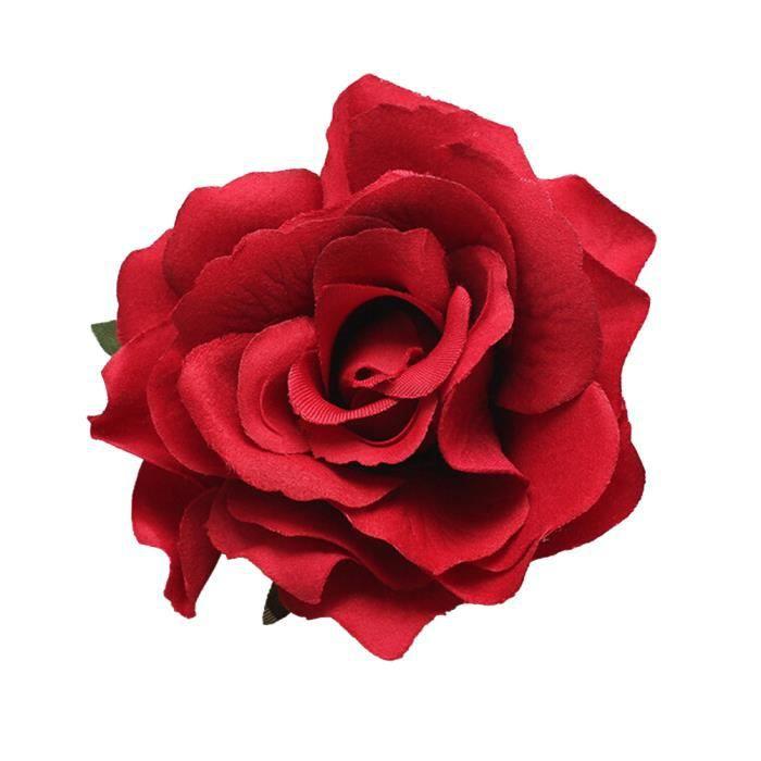 Pince à cheveux et pince à cheveux à fleurs roses