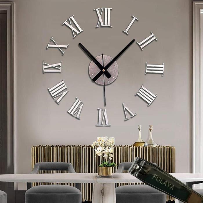 pendule géante mécanisme quartz horloge grandes aiguilles poire diamètre 80cm