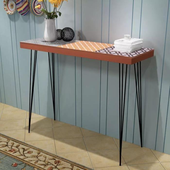TABLE BASSE Table console 90 x 30 x 71,5 cm Marron #N19374