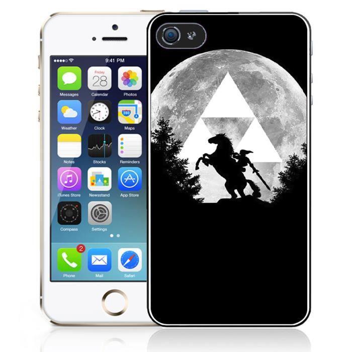 Coque iPhone 4 - 4S Zelda Lune Triforce