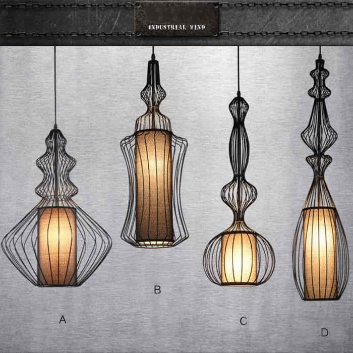 Ferandhome r tro lampe lustre chandelier suspension for Luminaire lustre design