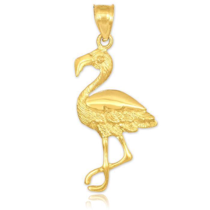 Collier Pendentif14 ct Or 585/1000 Flamingo