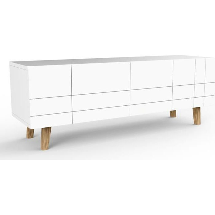 London buffet long achat vente buffet bahut 502197 alsapan cdiscount - Buffet scandinave pas cher ...