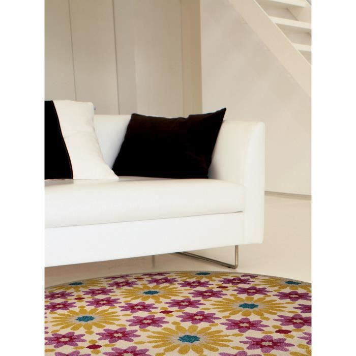 benuta tapis rond gazania mauve 200 cm rond achat. Black Bedroom Furniture Sets. Home Design Ideas