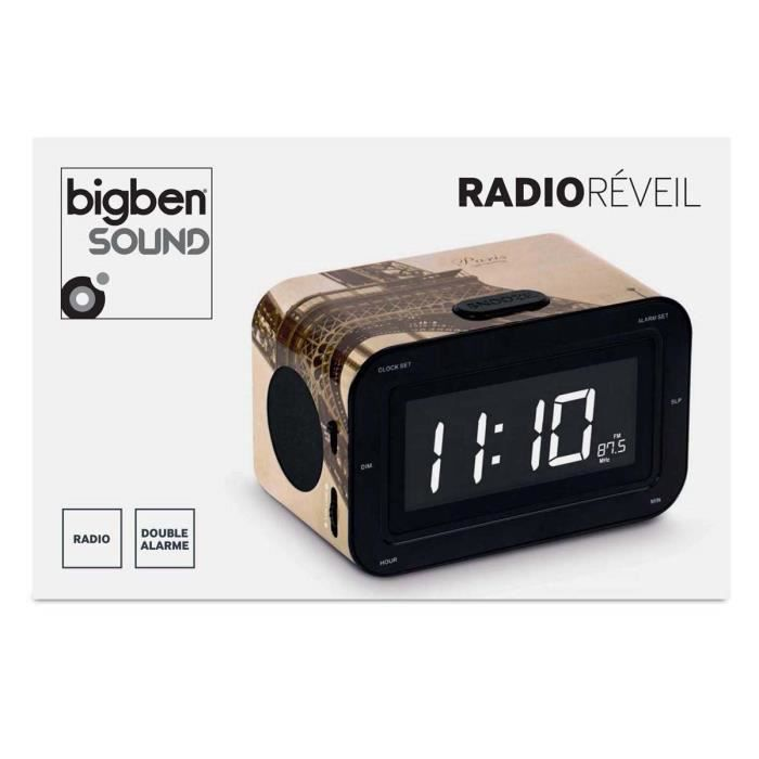 radio reveil motif paris radio r veil prix pas cher. Black Bedroom Furniture Sets. Home Design Ideas