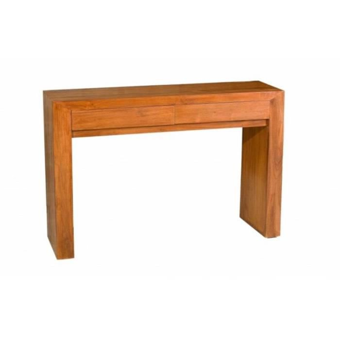 Console moderne style colonial en teck massif achat vente console console - Console extensible teck ...