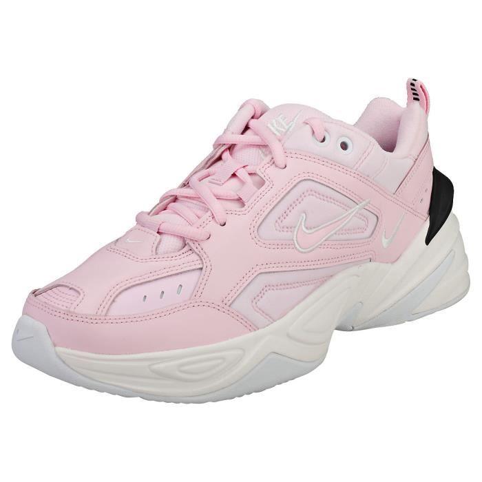 Nike M2k Tekno Femme Baskets Rose Noir Rose noir - Achat ...