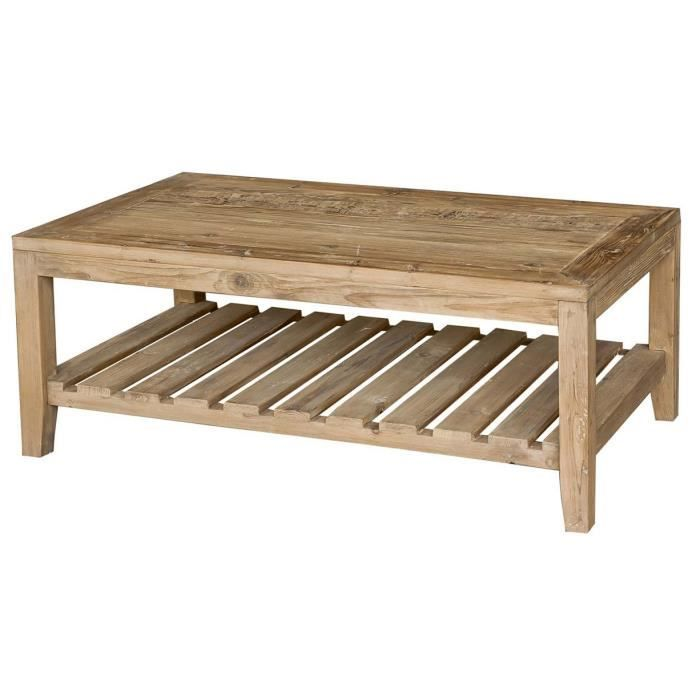 Table basse en bois pin naturel tone achat vente table for Table basse en bois naturel