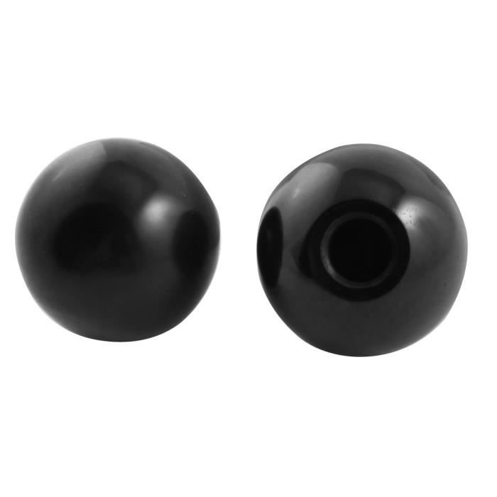 Acier Filetage LEVIER BOUTON pommeau boule 2x Boule bouton m10 ø40mm Noir M