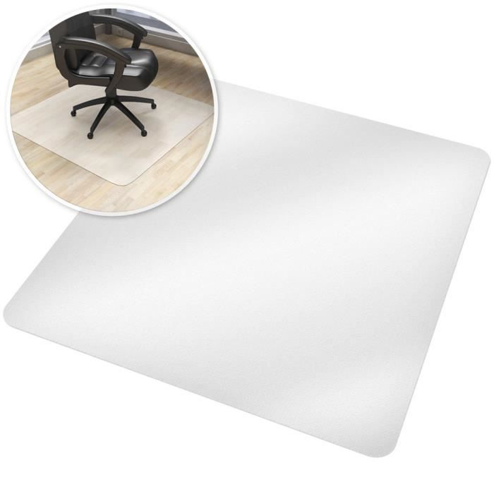 tapis de bureau tapis de protection sol pour chaise fauteuil si ge de bureau rectangulaire blanc. Black Bedroom Furniture Sets. Home Design Ideas