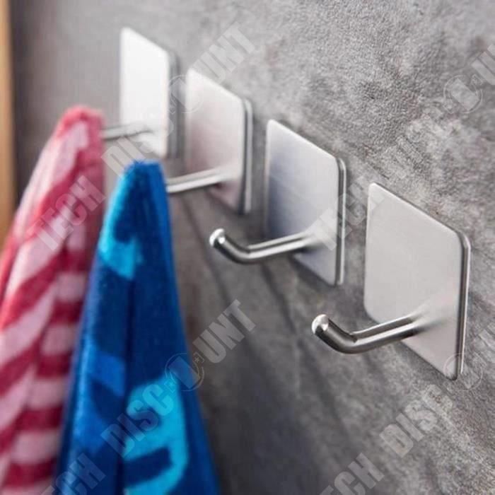 Lot de 12 crochets adh/ésifs pour salle de bain ou serviette de cuisine