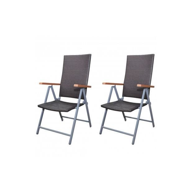 Superbe lot de 2 chaises en rotin marron pour table for Table a manger en rotin