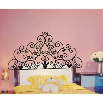 sticker t te de lit effet 3d achat vente stickers cdiscount. Black Bedroom Furniture Sets. Home Design Ideas