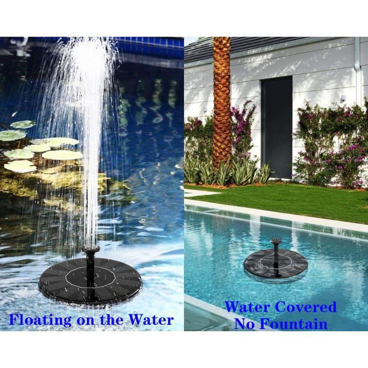 Faire Une Cascade Sans Pompe fontaine solaire, 42gal/h pompe � eau solaire avec panneau solaire de 8  mod�les d'eau--id�al pour jardin bassin fontaines d'etang
