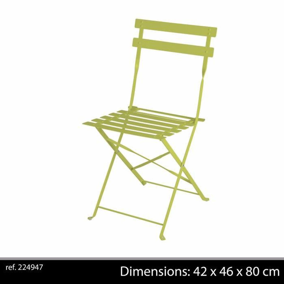 chaise pliante a lattes pour jardin fauteuil en metal design bistro cafe salon exterieur achat. Black Bedroom Furniture Sets. Home Design Ideas