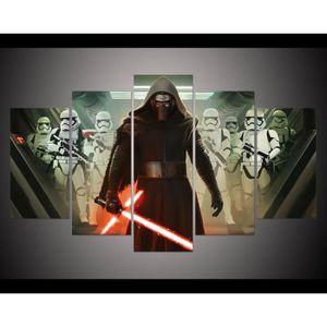 TABLEAU - TOILE peinture imprimée 5 panneaux toile image Star Wars