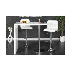 Table bar laque blanc achat vente table bar laque for Achat table bar