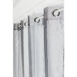 RIDEAU Vitrage 90 x 210 cm à Petits Oeillets Effet Métal