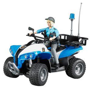 FIGURINE - PERSONNAGE Bruder 63010 - Quad Police Avec Figurine Policière