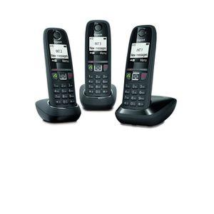 Téléphone fixe Gigaset AS470 trio - Téléphone fixe sans fil - 3 c
