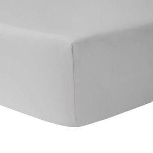 DRAP HOUSSE Drap Housse 160 x 200 - GRIS CLAIR 100% coton 57 f