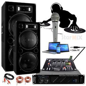 AMPLI PUISSANCE PACK SONO AMPLI 960w + 2 Enceintes 1000W + TABLE D