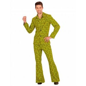 DÉGUISEMENT - PANOPLIE Déguisement groovy vert années 70 homme