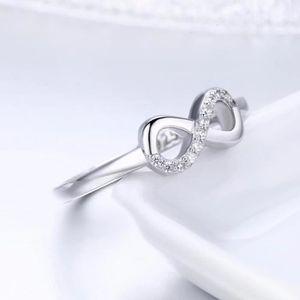 BAGUE - ANNEAU Wostu Bague Femmes Argent 925/1000 Cristal Coeur W