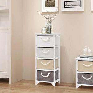 ARMOIRE DE CHAMBRE Luxueux Magnifique-Armoire de rangement 4 tiroirs