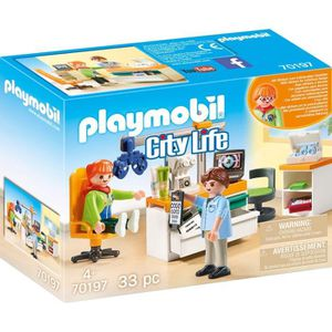 UNIVERS MINIATURE PLAYMOBIL 70197 - City Life L'Hôpital - Cabinet d'