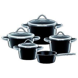CASSEROLE Silit Set de casseroles Vitaliano noir 5 pièces