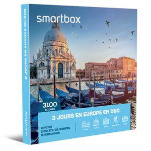 COFFRET SÉJOUR Coffret Cadeau - 3 jours en Europe en duo - Smartb